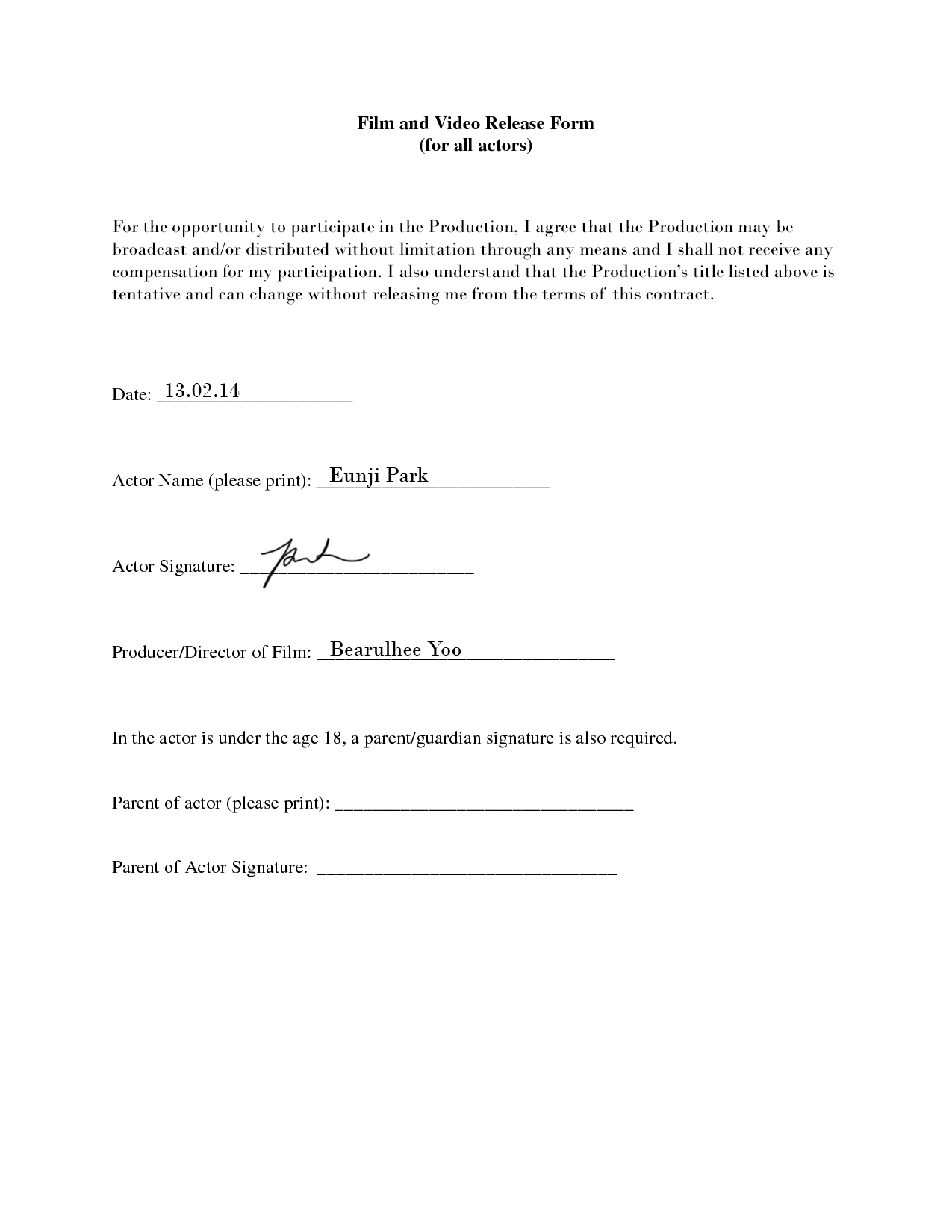 These Are Release Forms. Itu0027s Like A Permission Of Using Someoneu0027s Materials  Such As Music, Sound, Image, Photographs. You Have To Get Release Form When  You ...